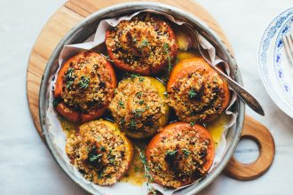 Beef and Rice Stuffed Tomatoes
