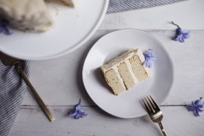 Swiss Meringue Chamomile Tea Cake
