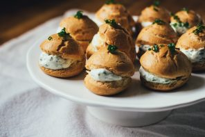 Gougères with Chèvre + Spring Herbs