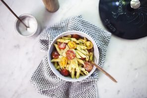 Summer Heirloom Tomato and Pistou Penne