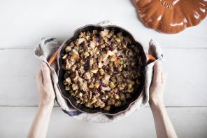 Apple, Cranberry & Sausage Stuffing