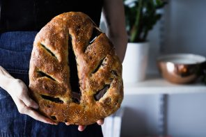 Chocolate Cherry Sourdough Fougasse