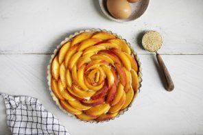 Peach + Hazelnut Frangipane Tart