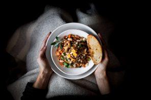 Cassoulet aux champignons sauvages et sauge croustillante