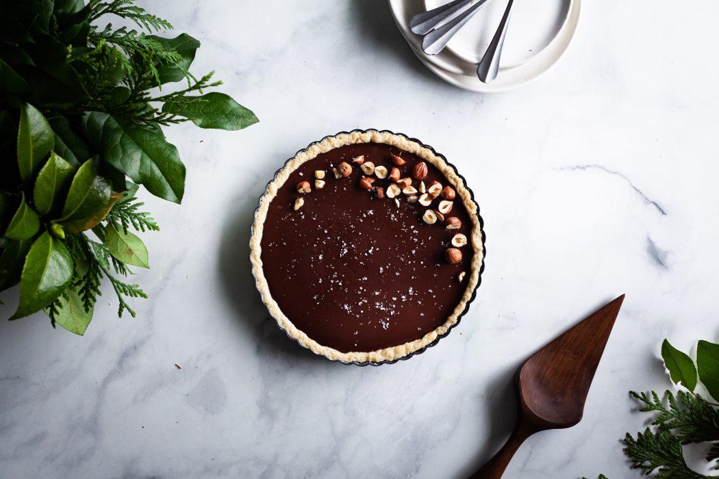 Salted Chocolate Ganache Tart