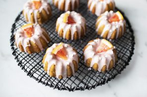 Blood Orange and Cardamom Mini Fluted Cakes