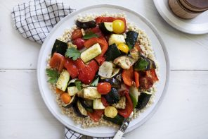 Roasted Ratatouille with Pearl Couscous