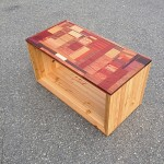 SIde table - reclaimed wood and exotic hardwoods