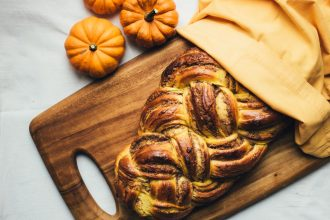 Pumpkin and Walnut Brioche
