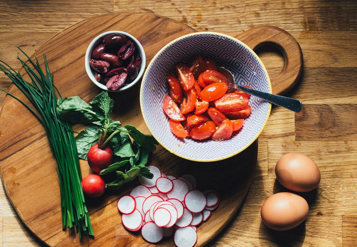 Seared Salmon Niçoise Ingredients