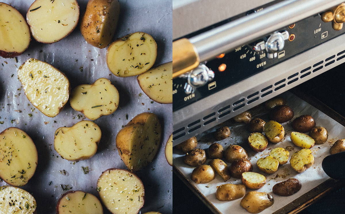 Roasted Potatoes for Seared Salmon Niçoise
