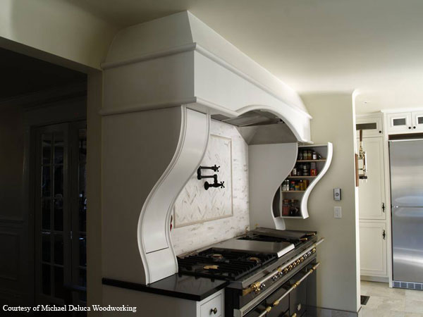 Custom curved cabinet