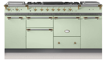"71"" Lacanche Chagny 1800 stove with 3 ovens and 2 warming cupboards"