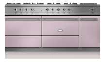 "71"" Sully 1800 dual-fuel stove with two large ovens and a warming cupboard"